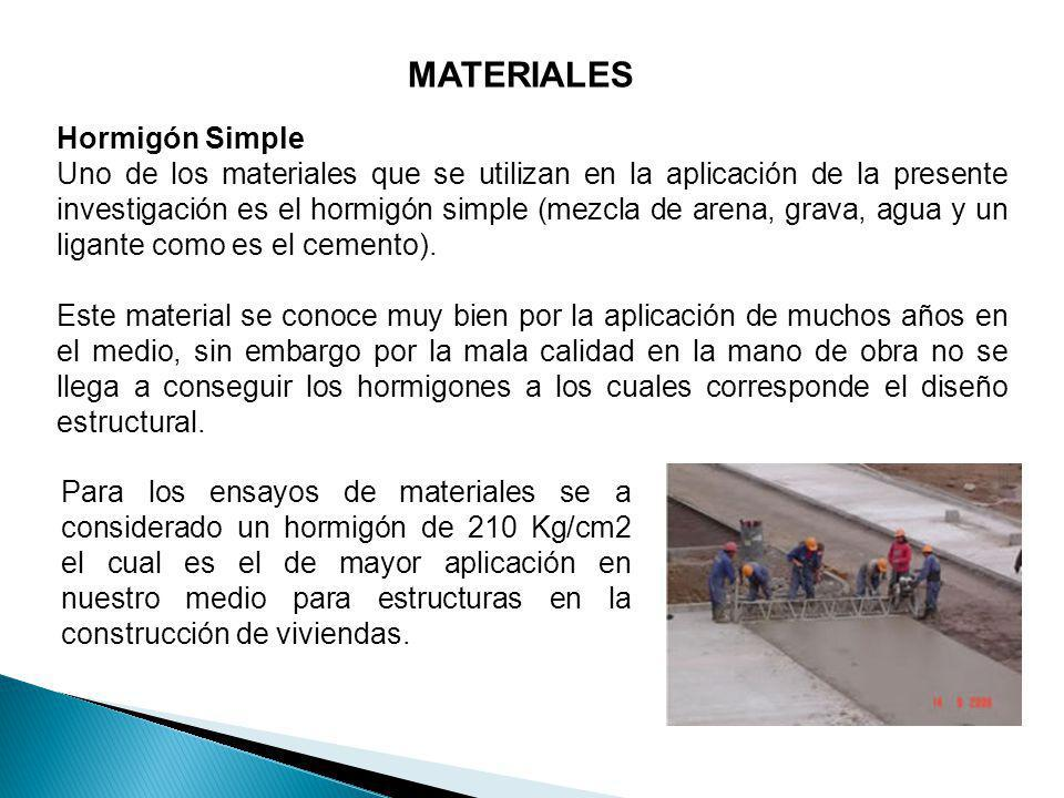 MATERIALES Hormigón Simple