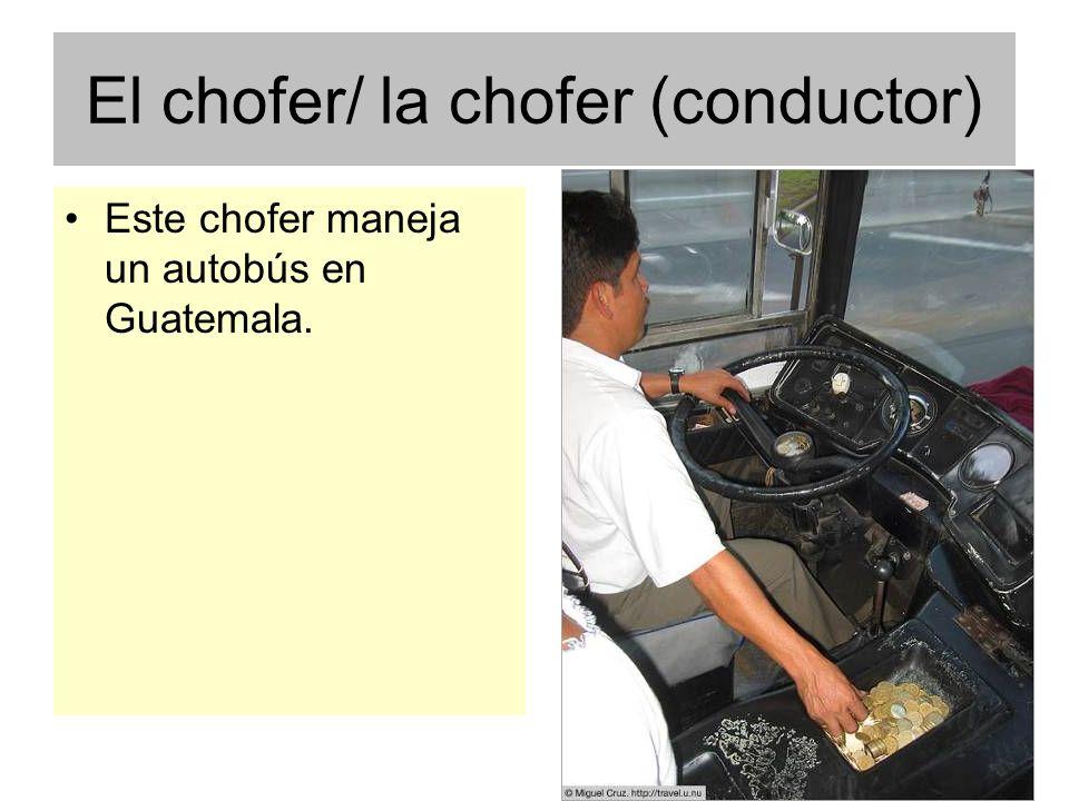 El chofer/ la chofer (conductor)