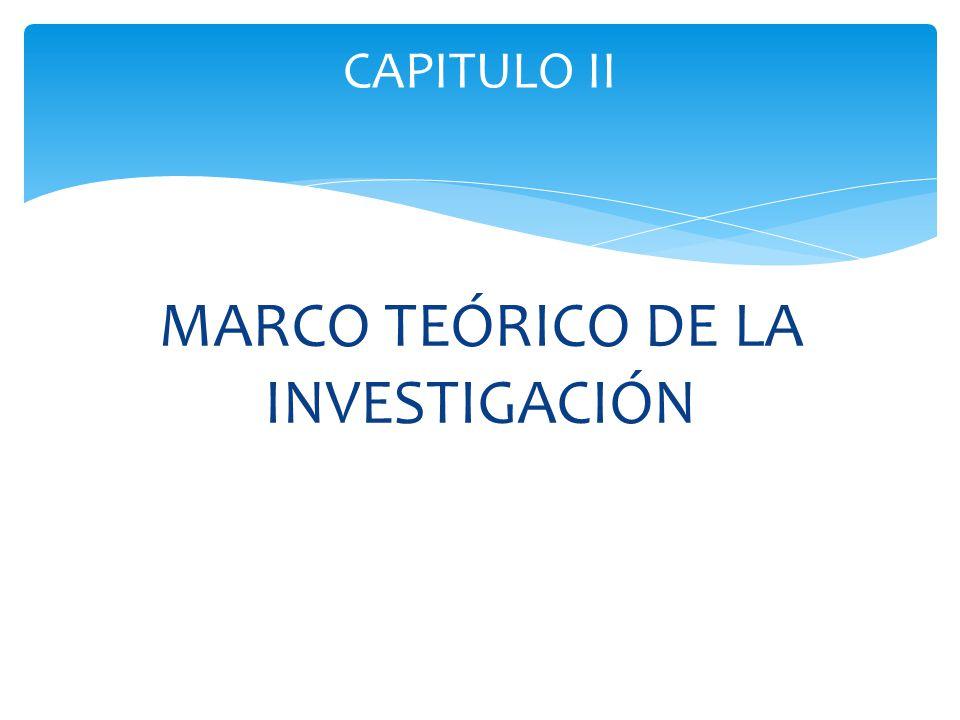 MARCO TEÓRICO DE LA INVESTIGACIÓN