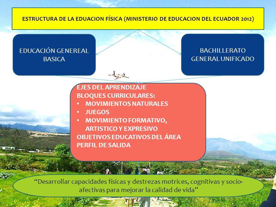 EDUCACIÓN GENEREAL BASICA BACHILLERATO GENERAL UNIFICADO