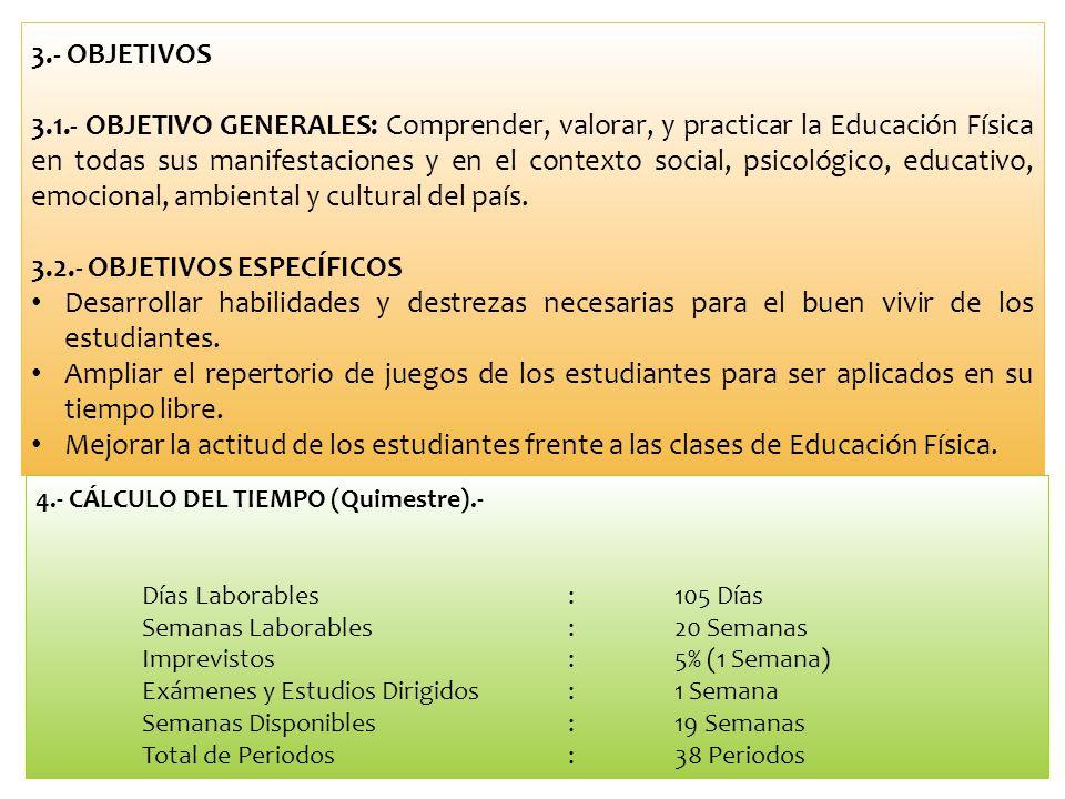 3.2.- OBJETIVOS ESPECÍFICOS