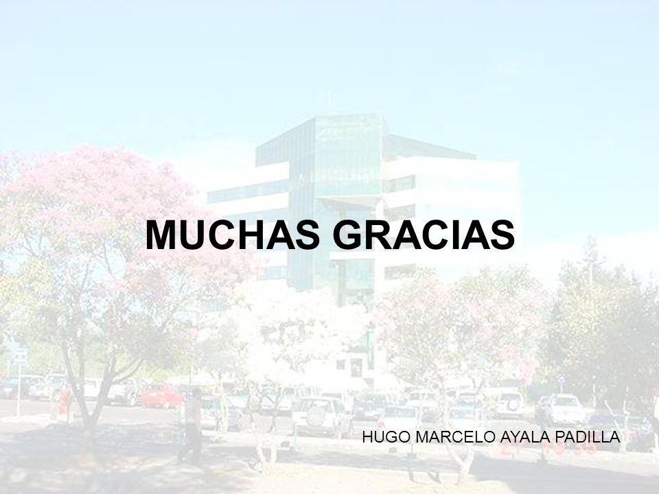 MUCHAS GRACIAS HUGO MARCELO AYALA PADILLA
