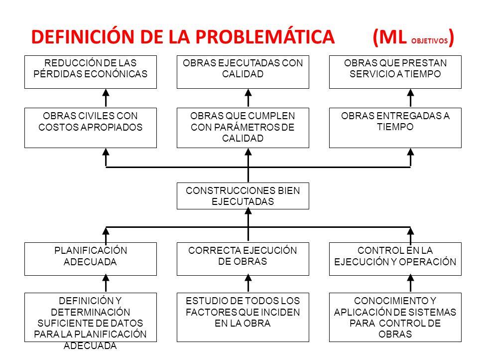 DEFINICIÓN DE LA PROBLEMÁTICA (ML OBJETIVOS)