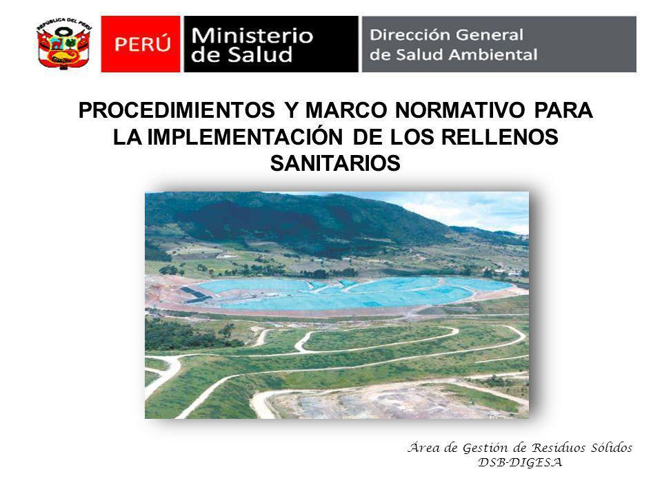Área de Gestión de Residuos Sólidos DSB-DIGESA