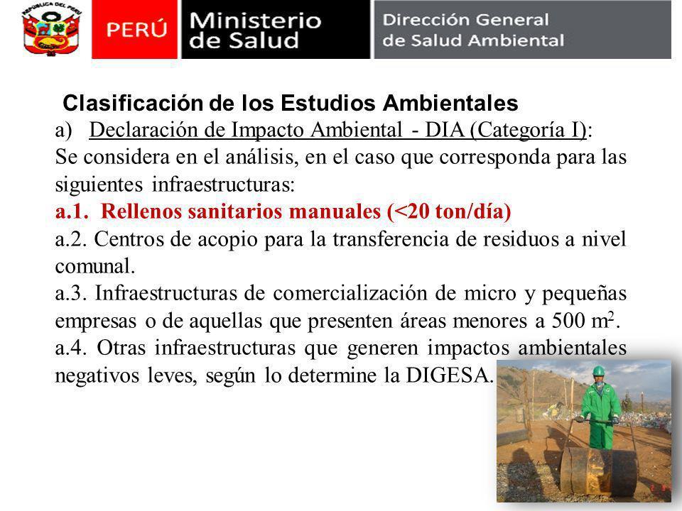 Clasificación de los Estudios Ambientales