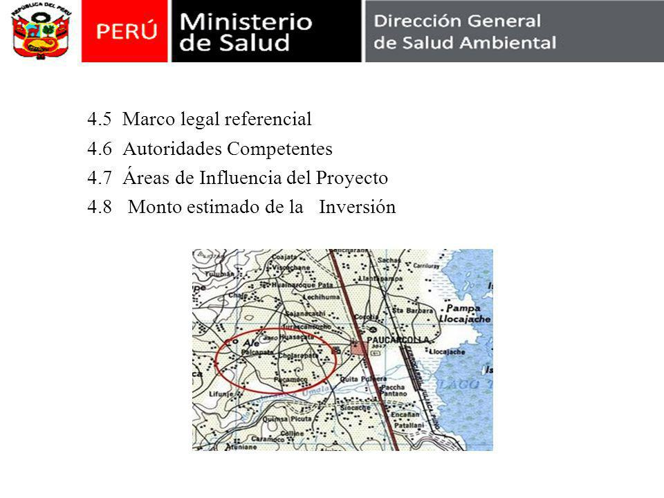 4. 5 Marco legal referencial 4. 6 Autoridades Competentes 4