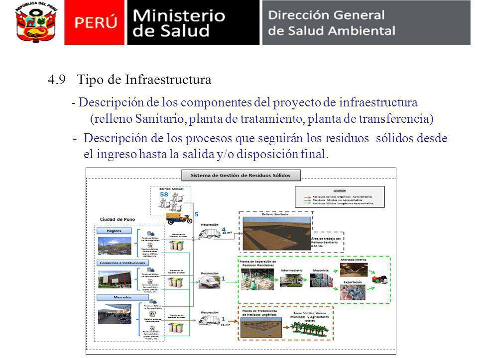 4.9 Tipo de Infraestructura