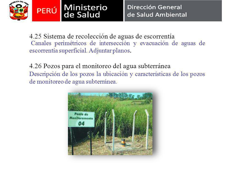4.25 Sistema de recolección de aguas de escorrentía