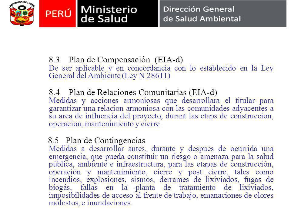 8.3 Plan de Compensación (EIA-d)