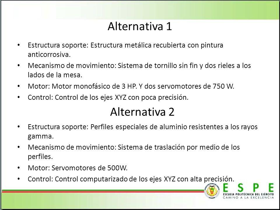 Alternativa 1 Alternativa 2
