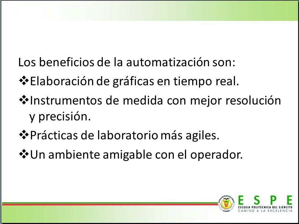 Los beneficios de la automatización son: