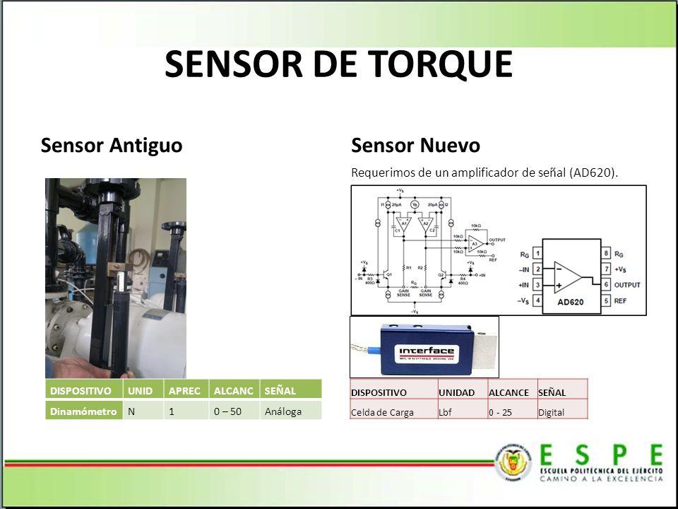 SENSOR DE TORQUE Sensor Antiguo Sensor Nuevo