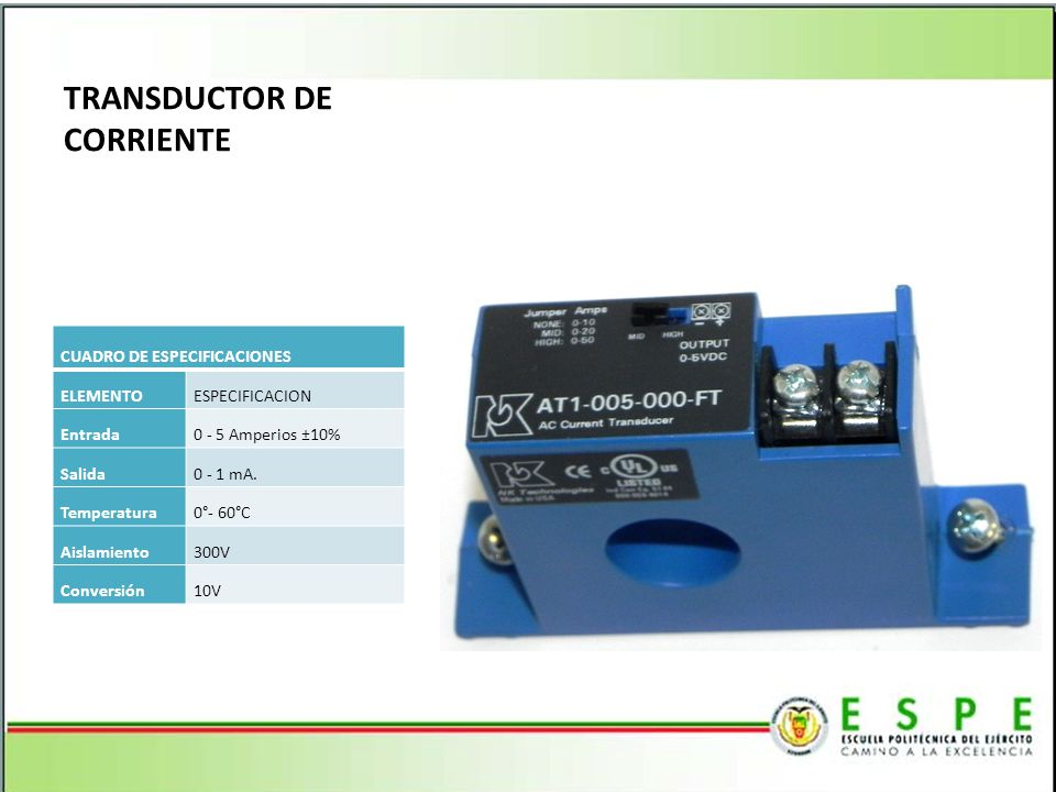TRANSDUCTOR DE CORRIENTE