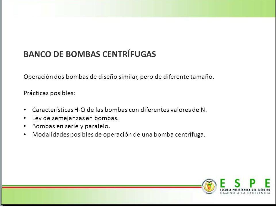 BANCO DE BOMBAS CENTRÍFUGAS