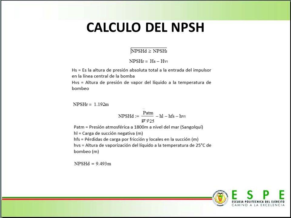 CALCULO DEL NPSH