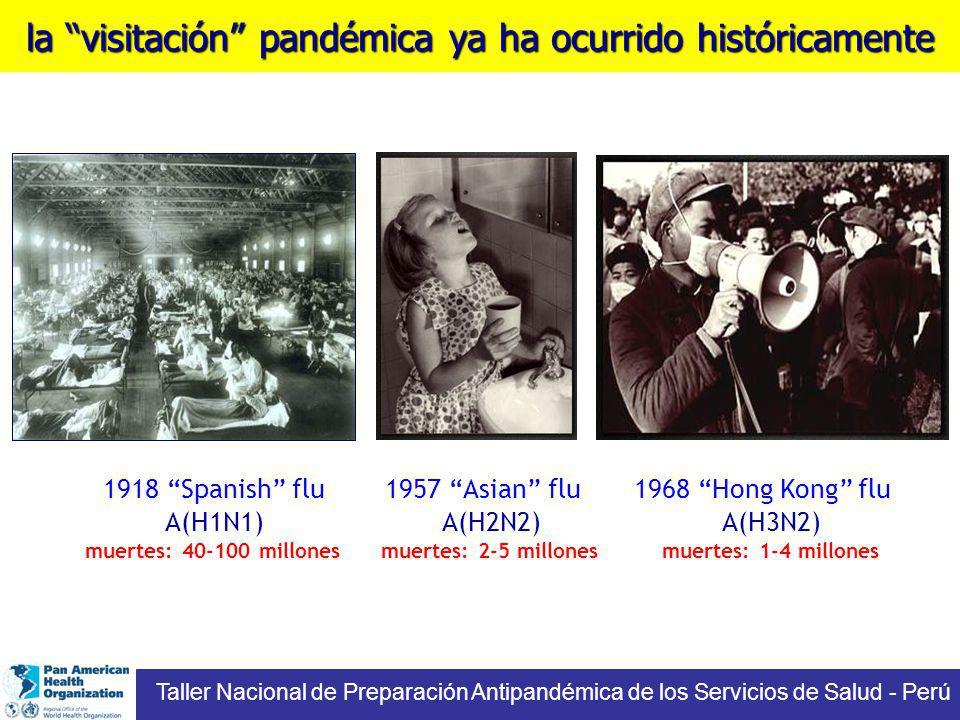 la visitación pandémica ya ha ocurrido históricamente