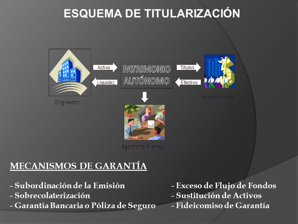 ESQUEMA DE TITULARIZACIÓN