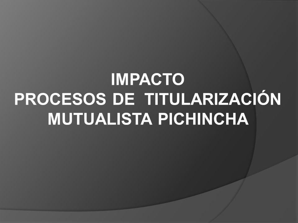PROCESOS DE TITULARIZACIÓN MUTUALISTA PICHINCHA