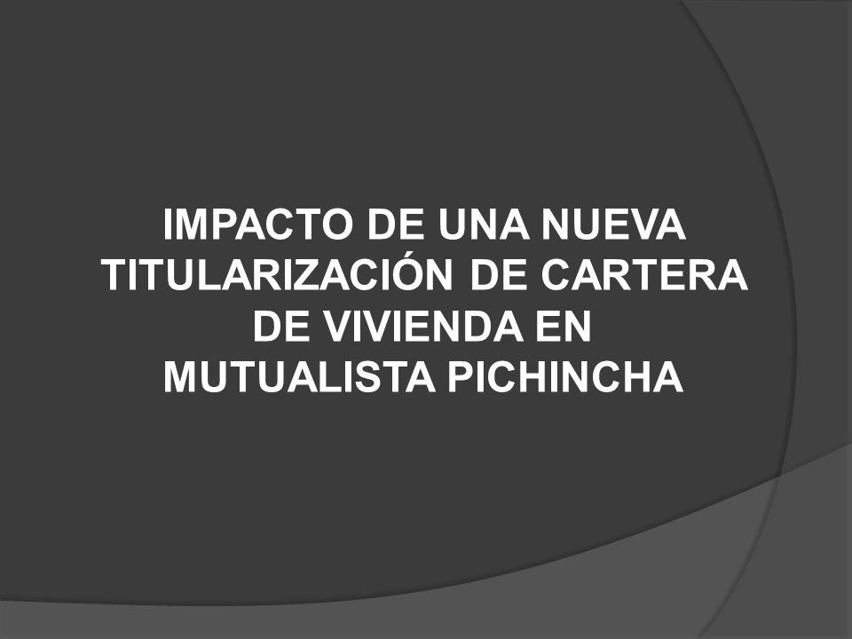 IMPACTO DE UNA NUEVA TITULARIZACIÓN DE CARTERA DE VIVIENDA EN