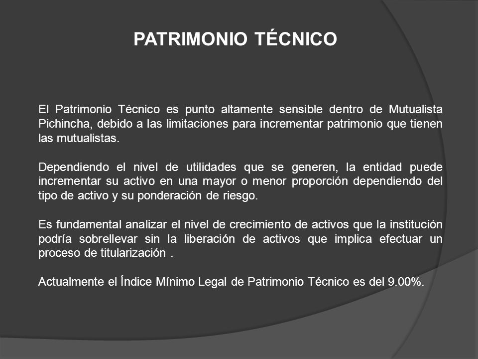 PATRIMONIO TÉCNICO