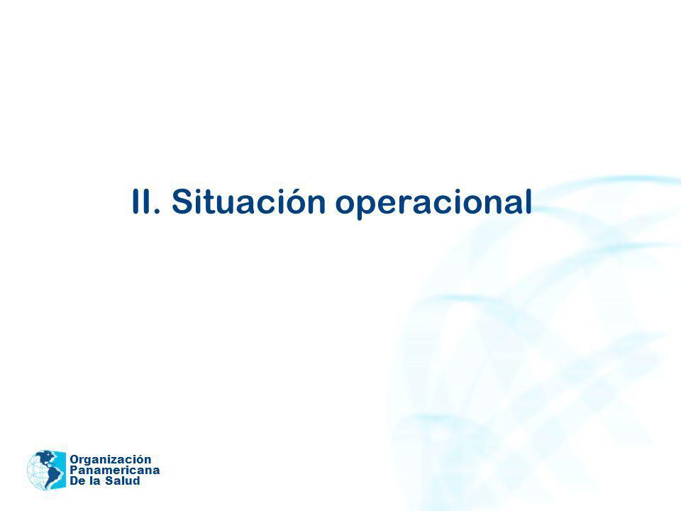 II. Situación operacional