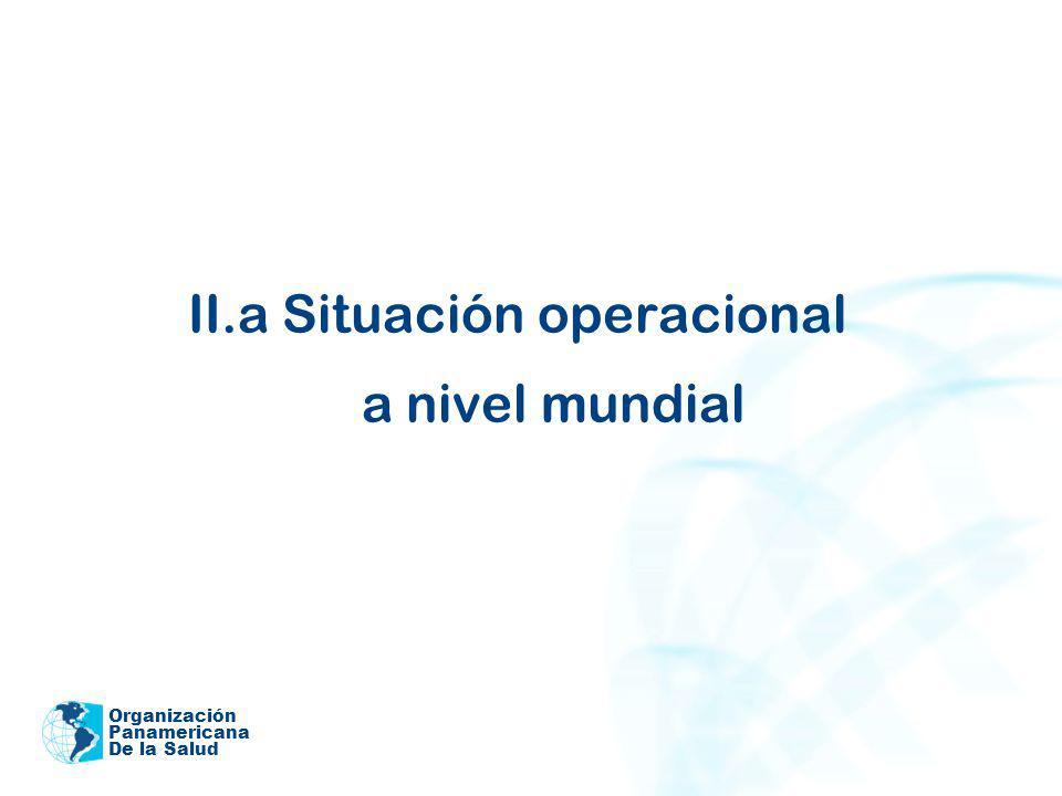 II.a Situación operacional a nivel mundial