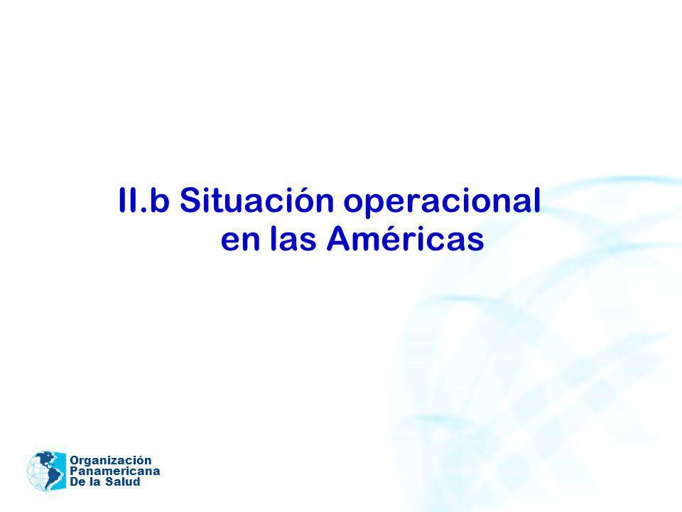 II.b Situación operacional en las Américas