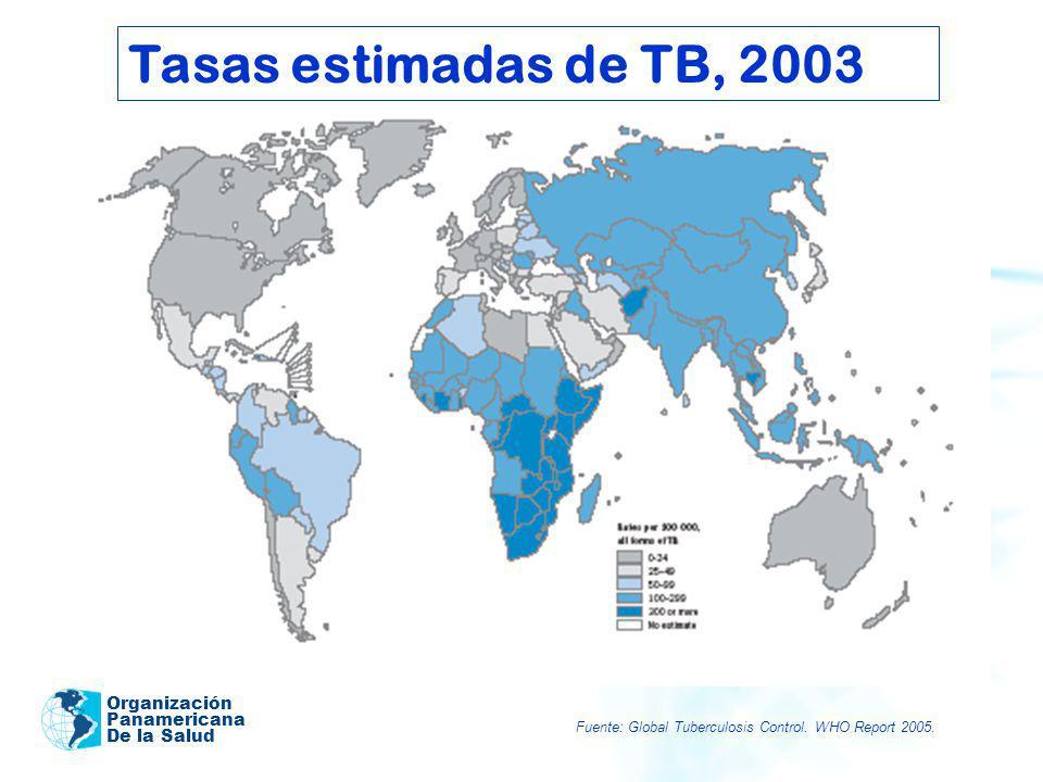 Tasas estimadas de TB, 2003 Organización Panamericana De la Salud