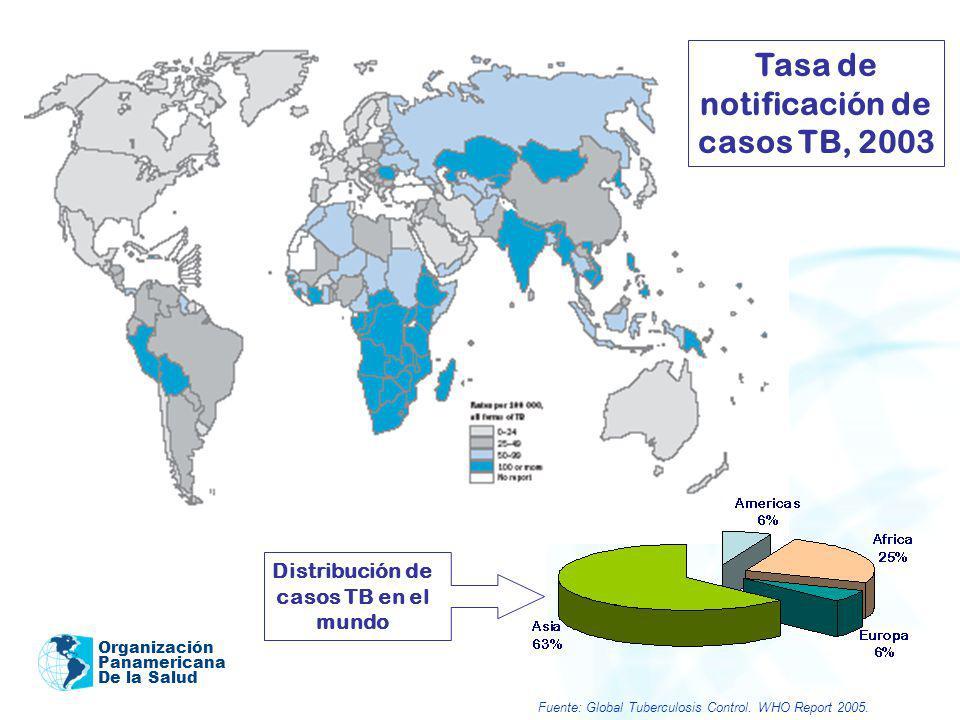 Tasa de notificación de casos TB, 2003