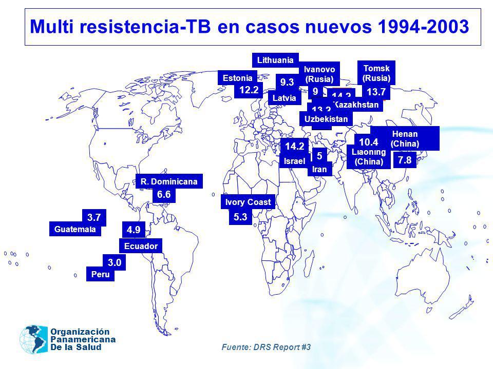 Multi resistencia-TB en casos nuevos 1994-2003