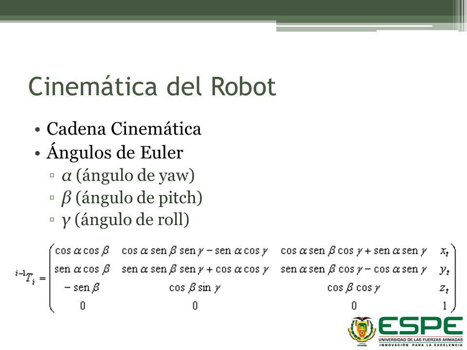 Cinemática del Robot Cadena Cinemática Ángulos de Euler