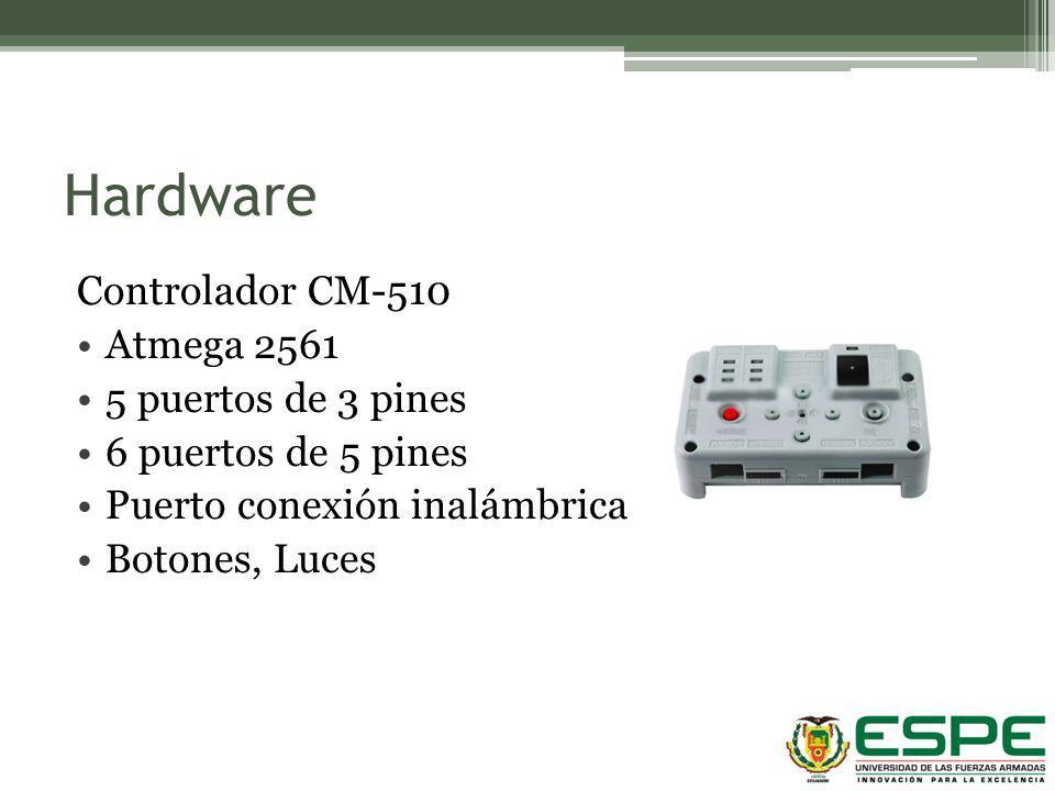 Hardware Controlador CM-510 Atmega 2561 5 puertos de 3 pines