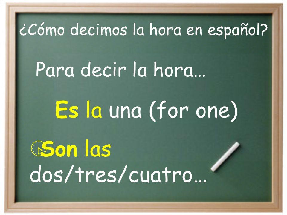 ¿Cómo decimos la hora en español