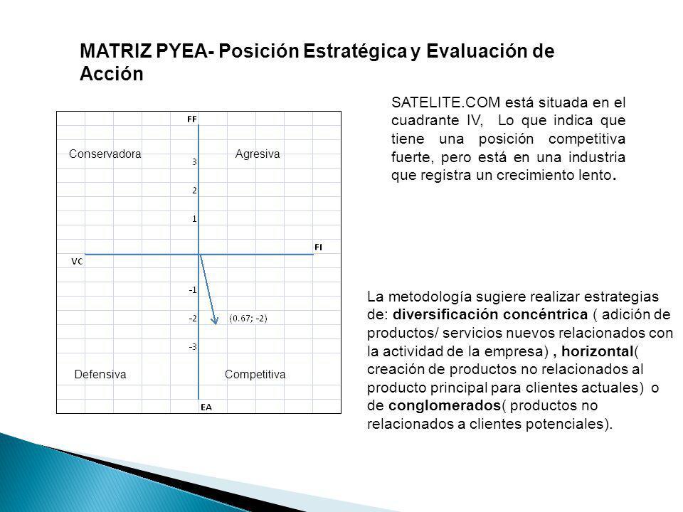 MATRIZ PYEA- Posición Estratégica y Evaluación de Acción