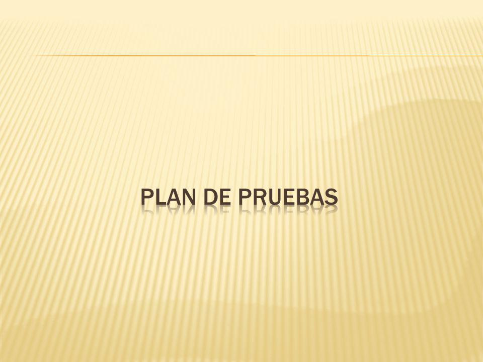 Plan de pruebas