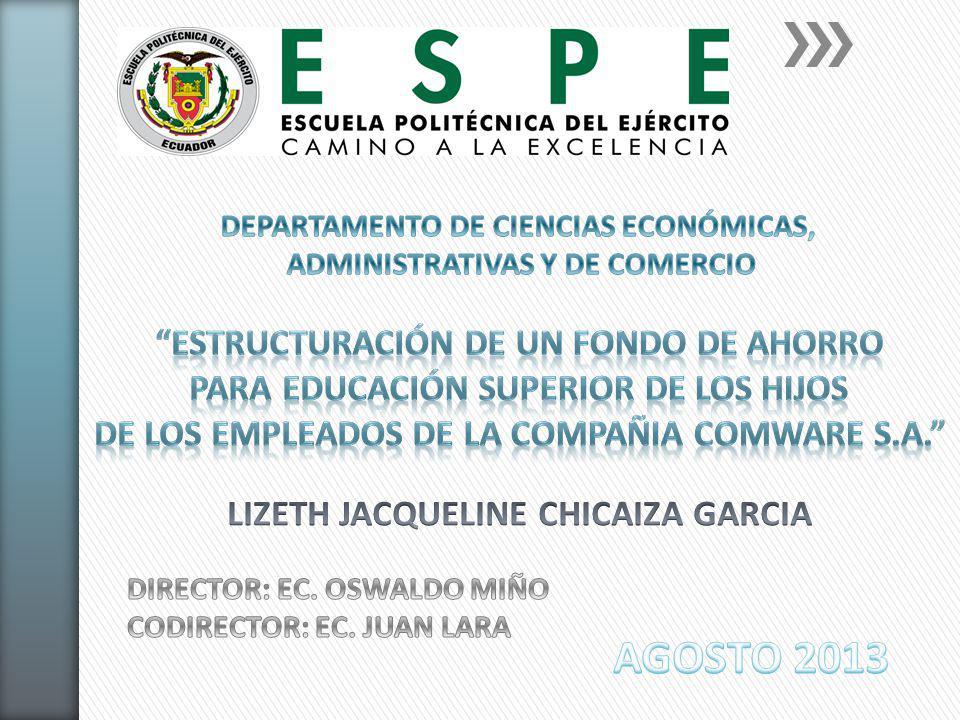 AGOSTO 2013 ESTRUCTURACIÓN DE UN FONDO DE AHORRO