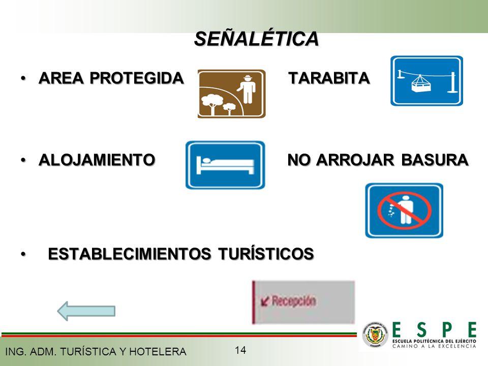 SEÑALÉTICA AREA PROTEGIDA TURISTICOSTARABITA