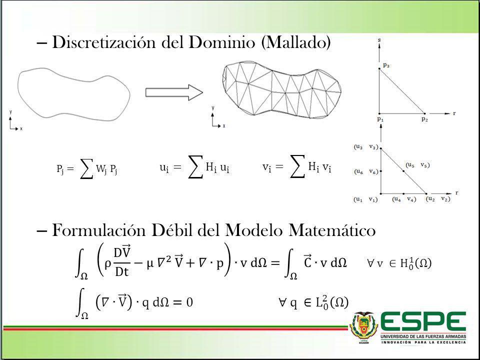 Discretización del Dominio (Mallado)