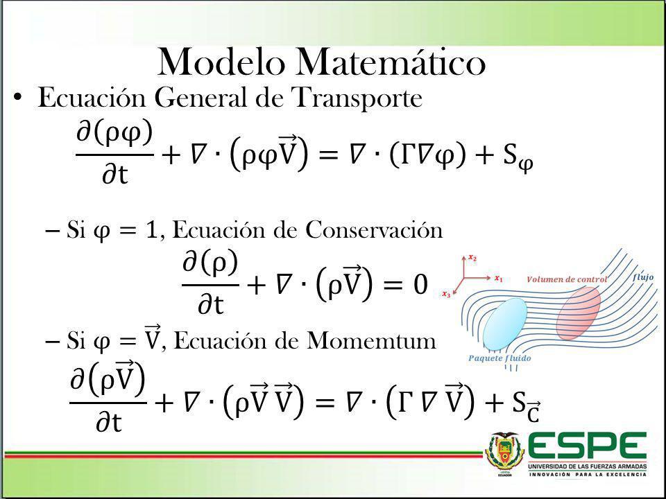 Modelo Matemático Ecuación General de Transporte
