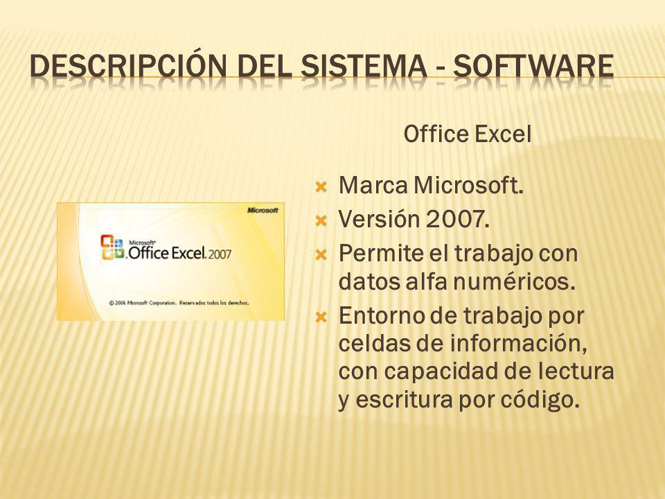 DESCRIPCIÓN DEL SISTEMA - SOFTWARE