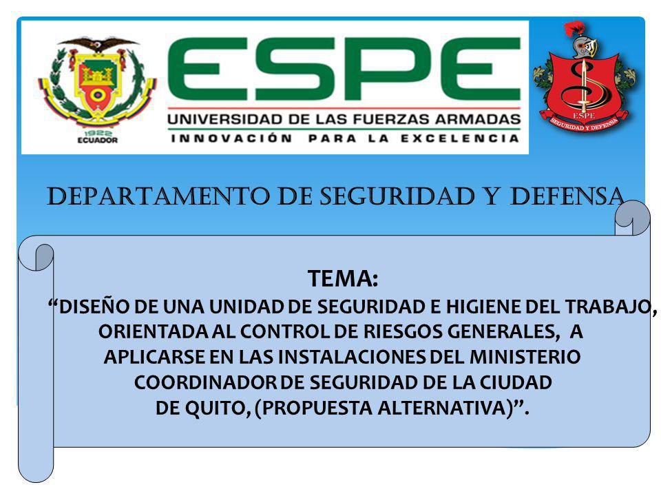 DEPARTAMENTO DE SEGURIDAD Y DEFENSA