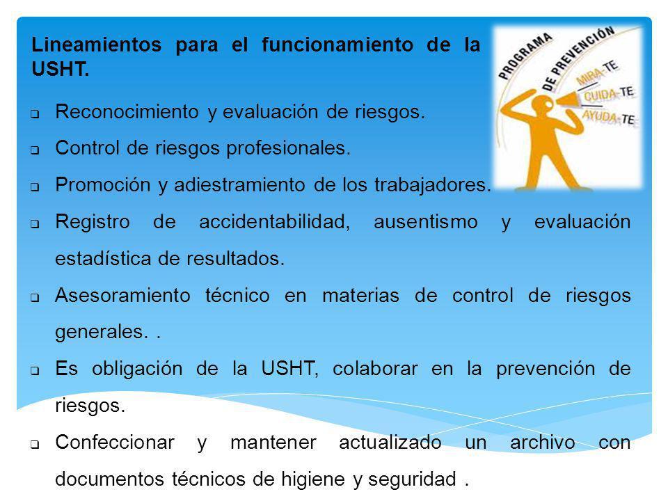 Lineamientos para el funcionamiento de la USHT.
