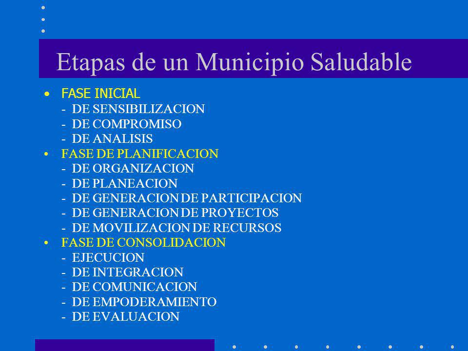 Etapas de un Municipio Saludable