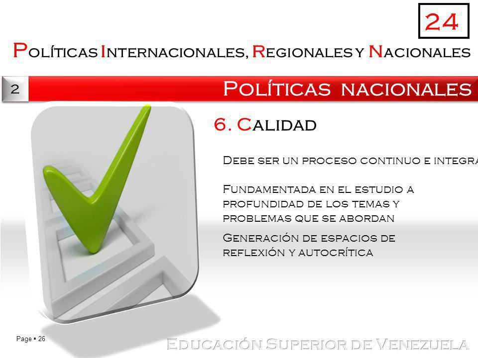 24 Políticas internacionales, regionales y nacionales