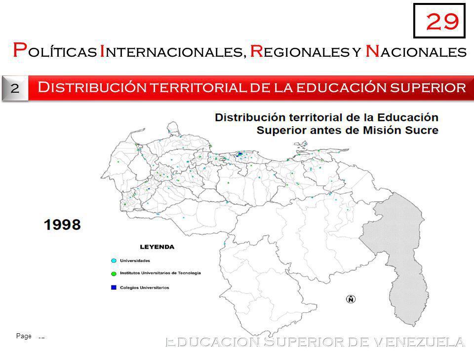 29 Políticas internacionales, regionales y nacionales