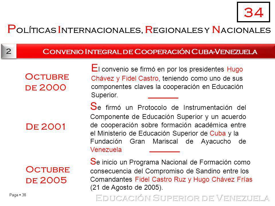 34 Políticas internacionales, regionales y nacionales