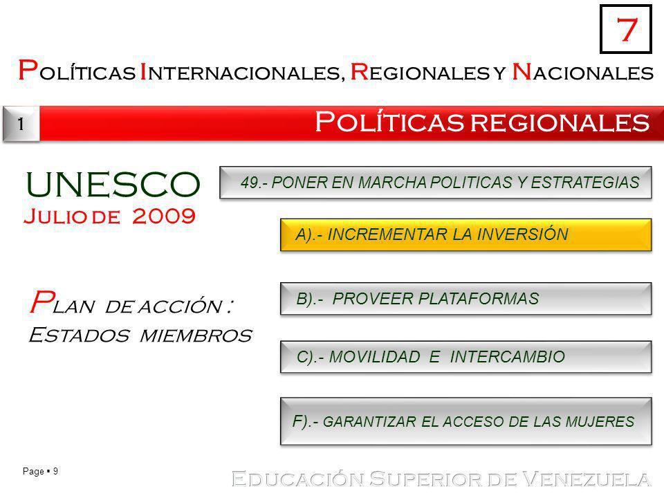 UNESCO 7 Plan de acción : Estados miembros