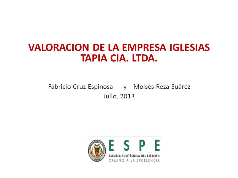 VALORACION DE LA EMPRESA IGLESIAS TAPIA CIA. LTDA.