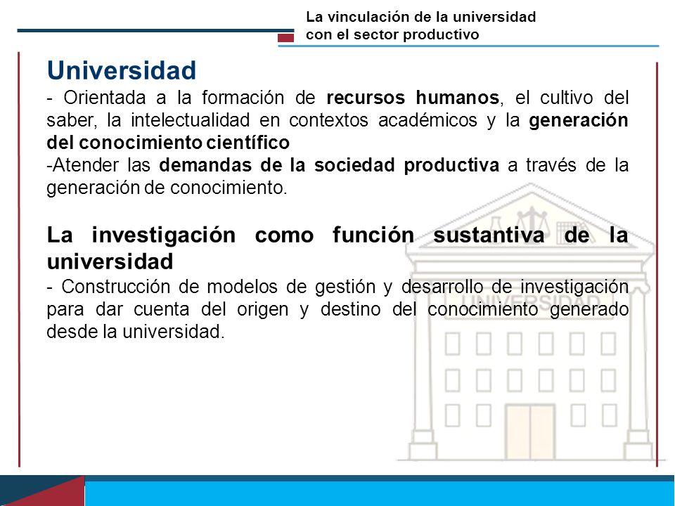 Universidad La investigación como función sustantiva de la universidad