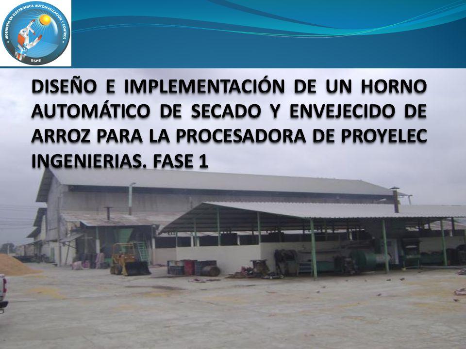 DISEÑO E IMPLEMENTACIÓN DE UN HORNO AUTOMÁTICO DE SECADO Y ENVEJECIDO DE ARROZ PARA LA PROCESADORA DE PROYELEC INGENIERIAS.